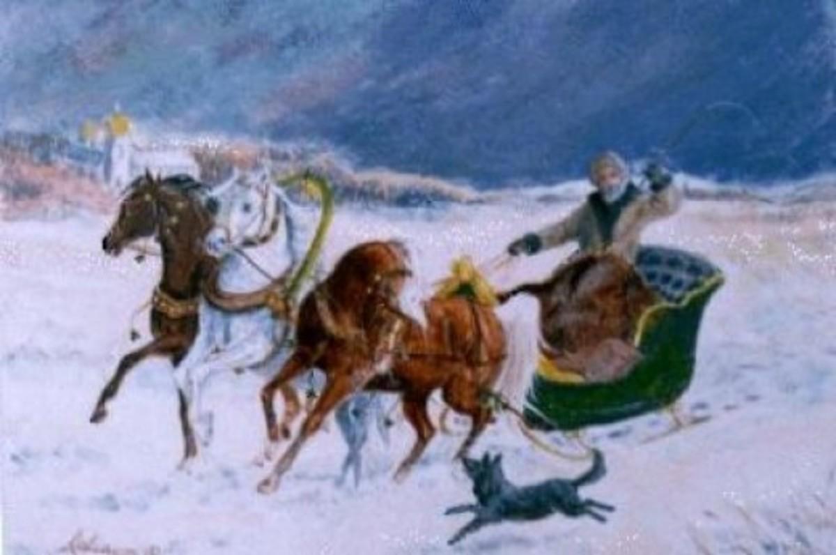 Russian winter in a Troika