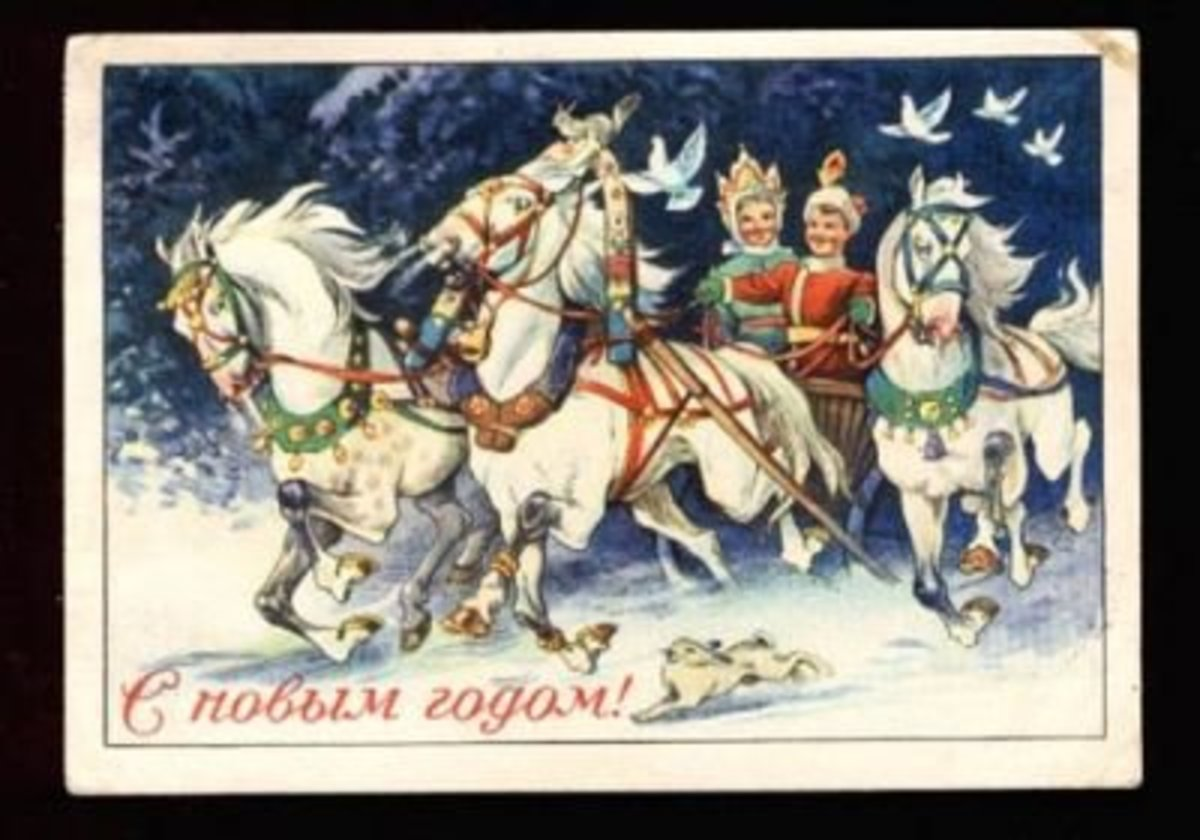 Russian Christmas card