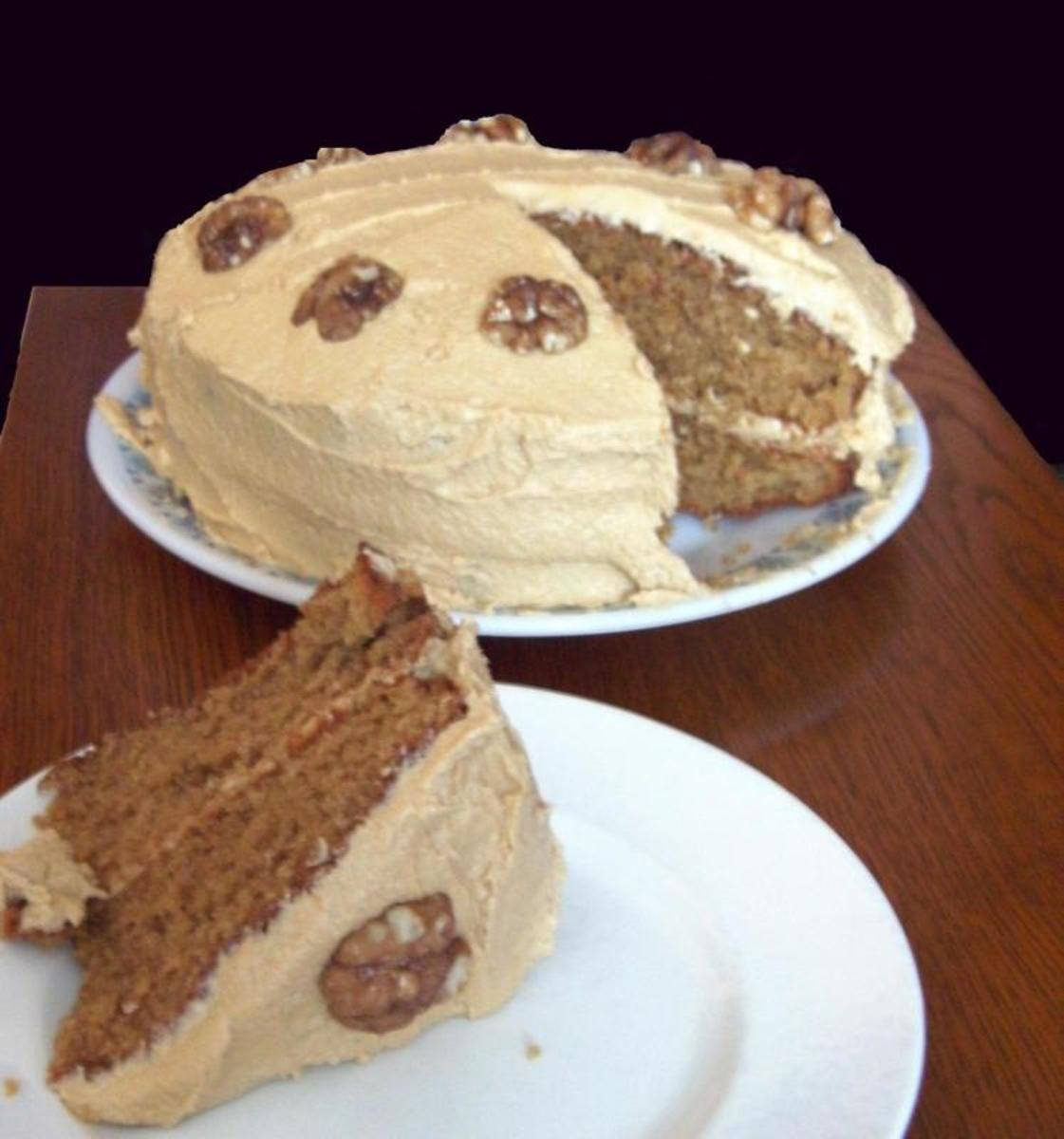 Delicious Moist Coffee and Walnut Cake Recipe