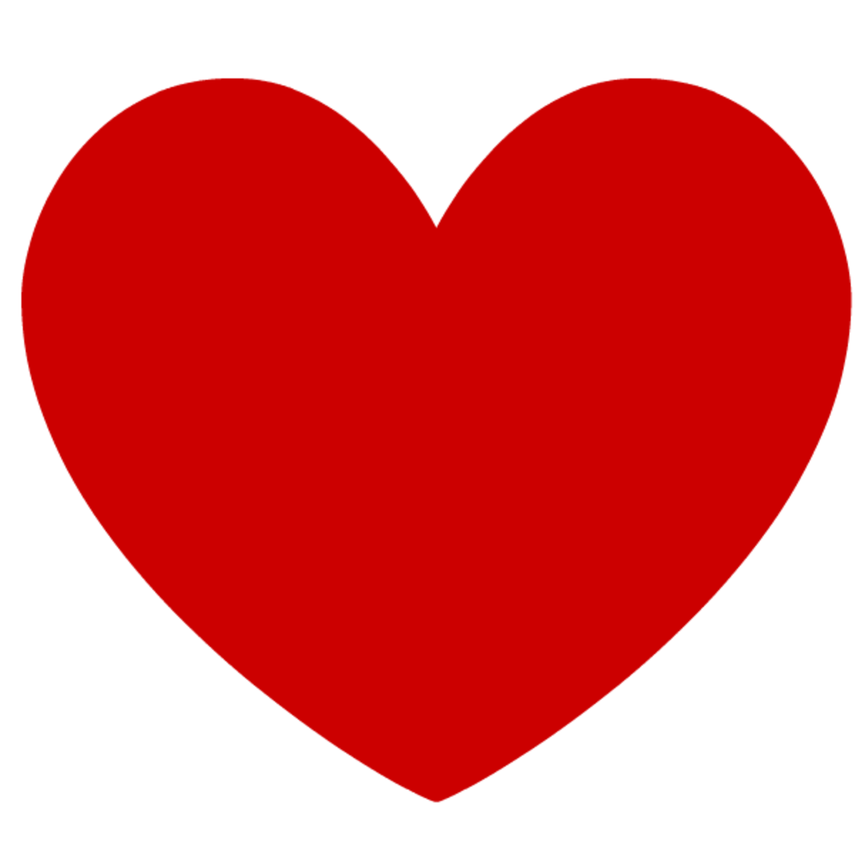 Red heart clip art image