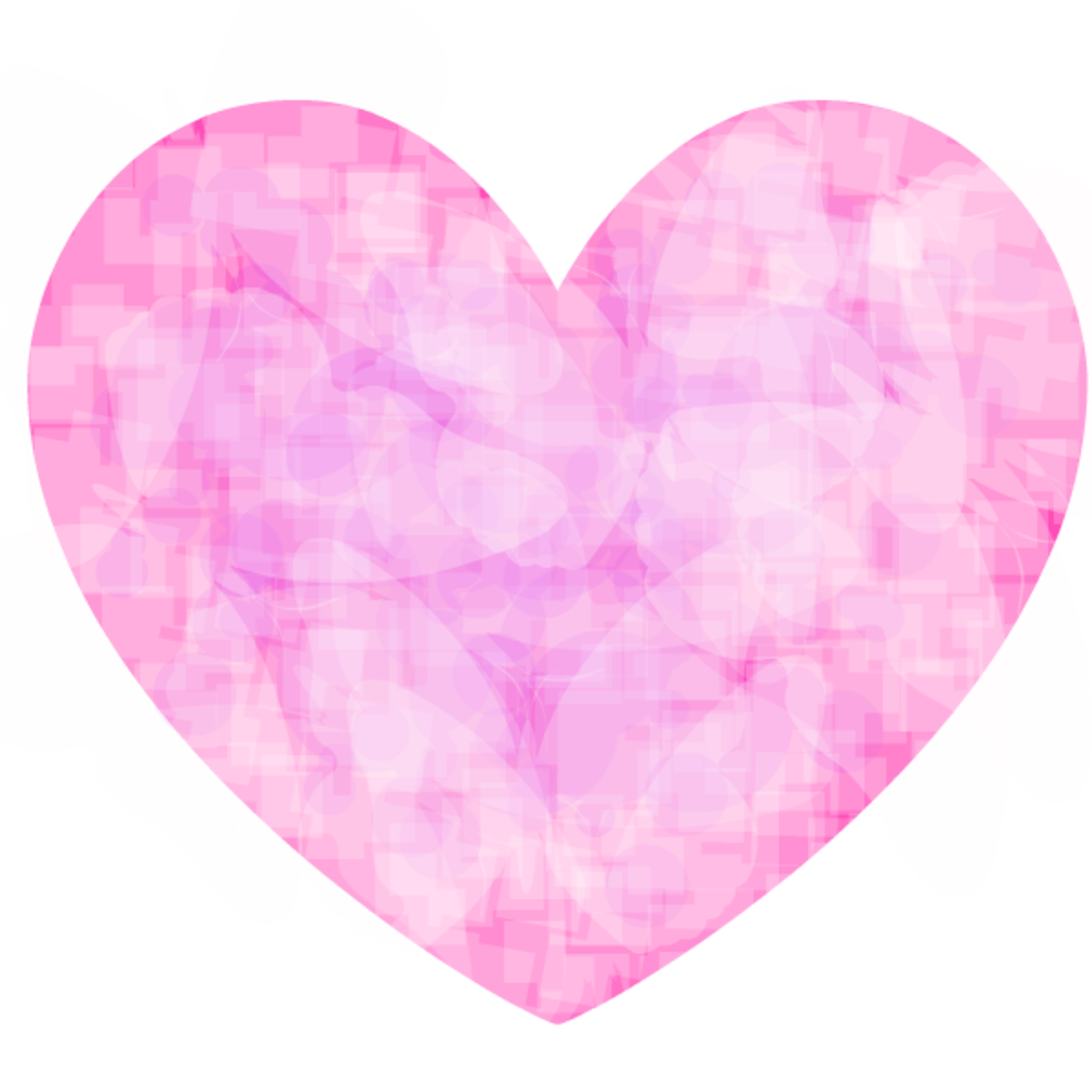 Pink and white patterned heart clip art