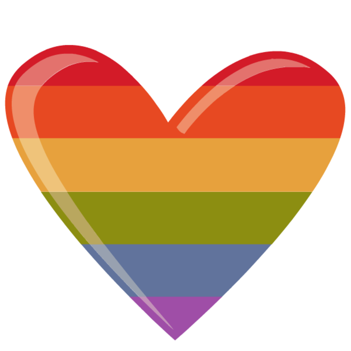 Rainbow patterned heart clip art