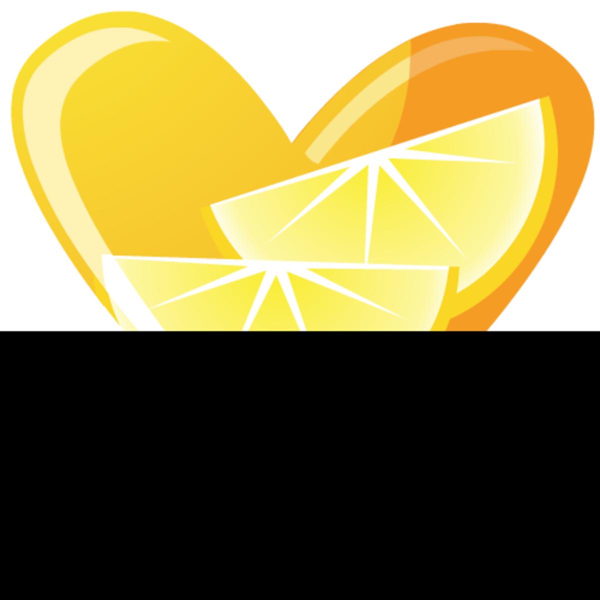 Lemon heart clip art image