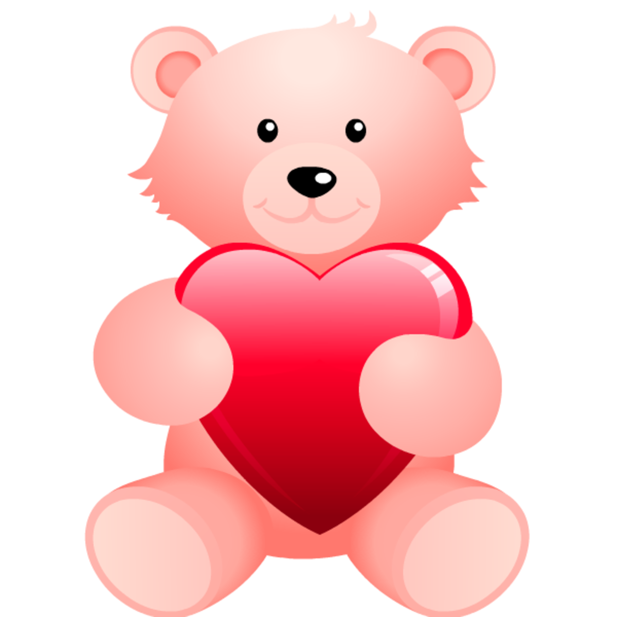 Teddy bear with heart clip art