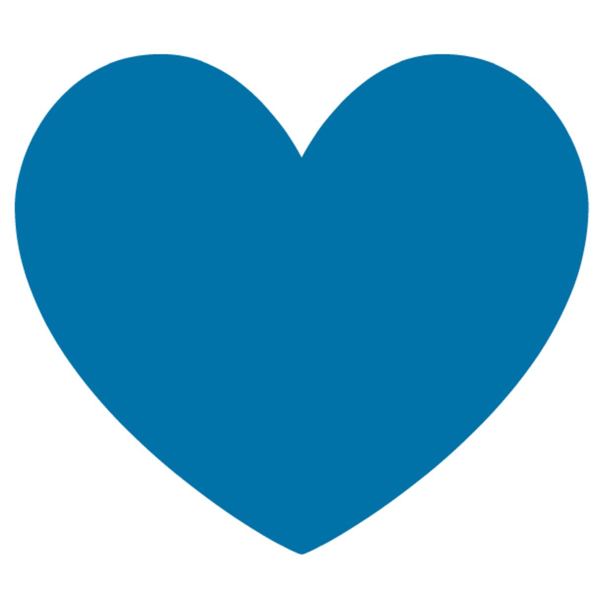 Blue heart valentine clip art