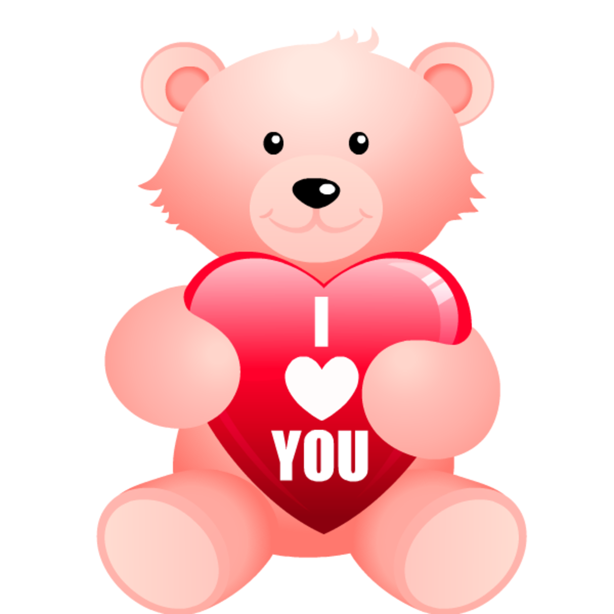 "Teddy bear with ""I Love You"" heart clip art image"