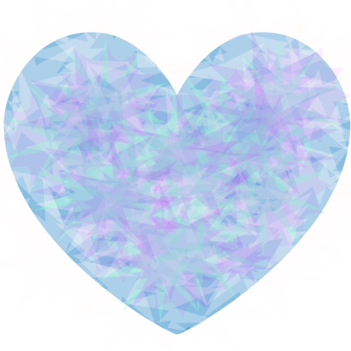 Blue and purple patterned heart image