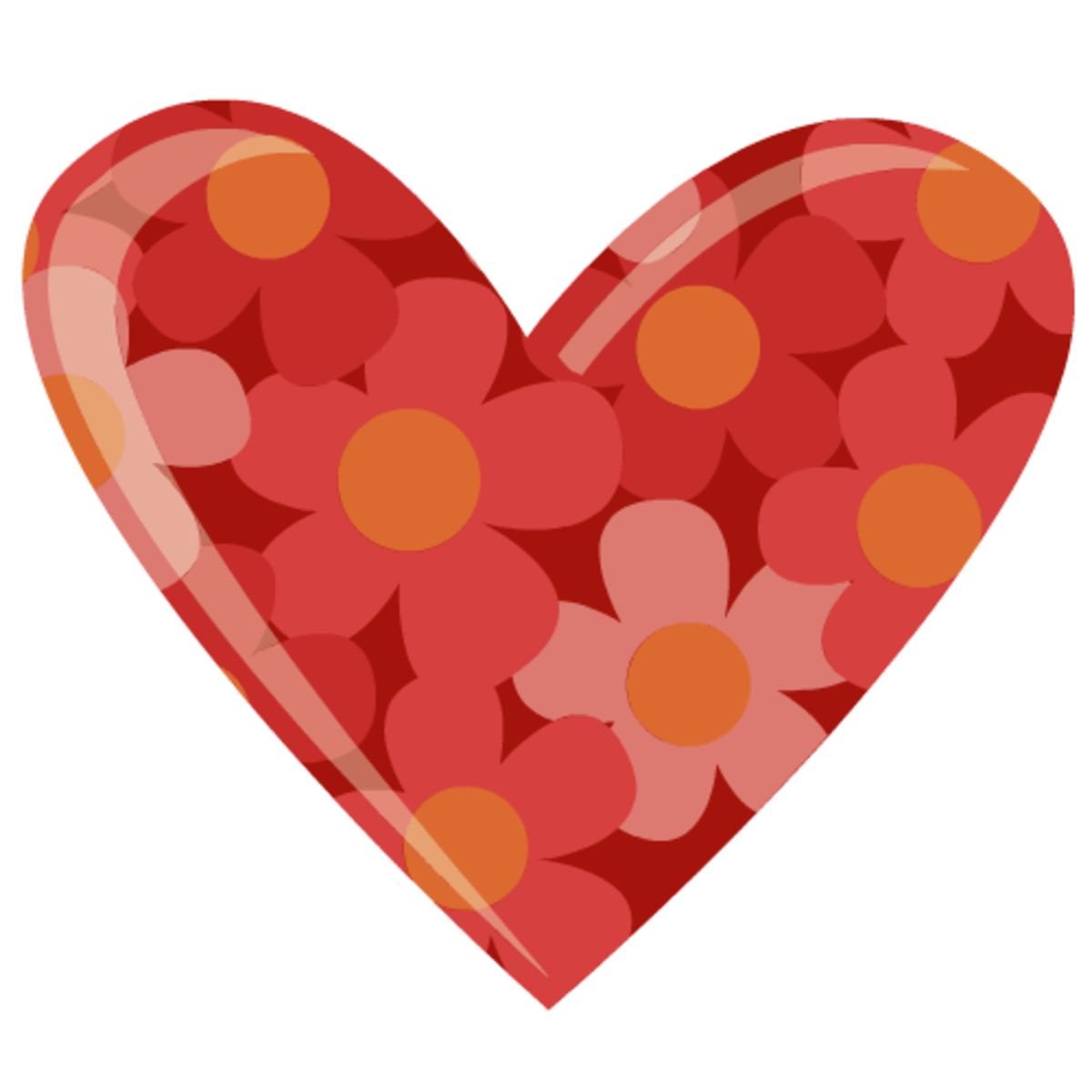 Flower heart clipart