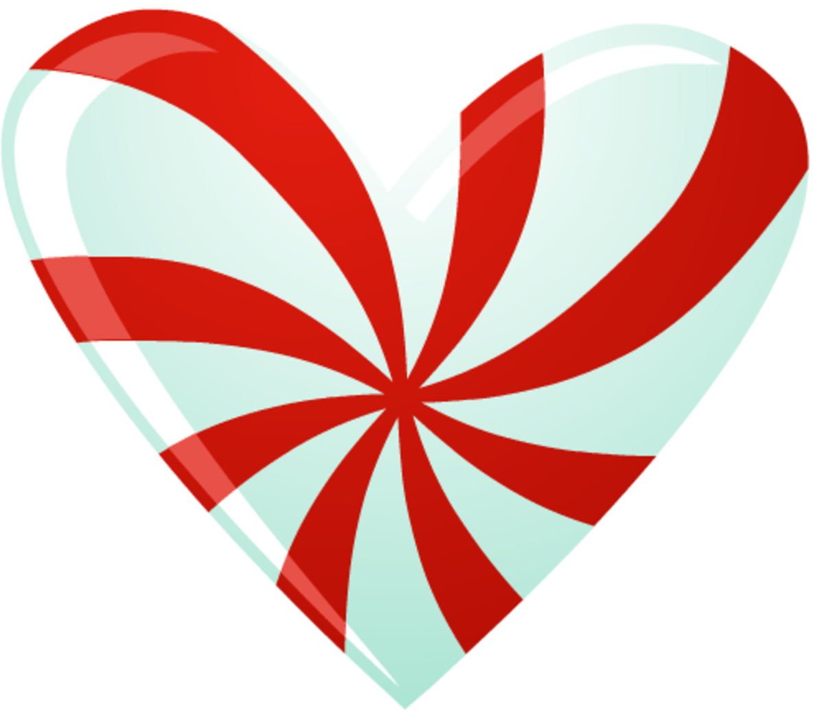 Candy cane heart clipart image