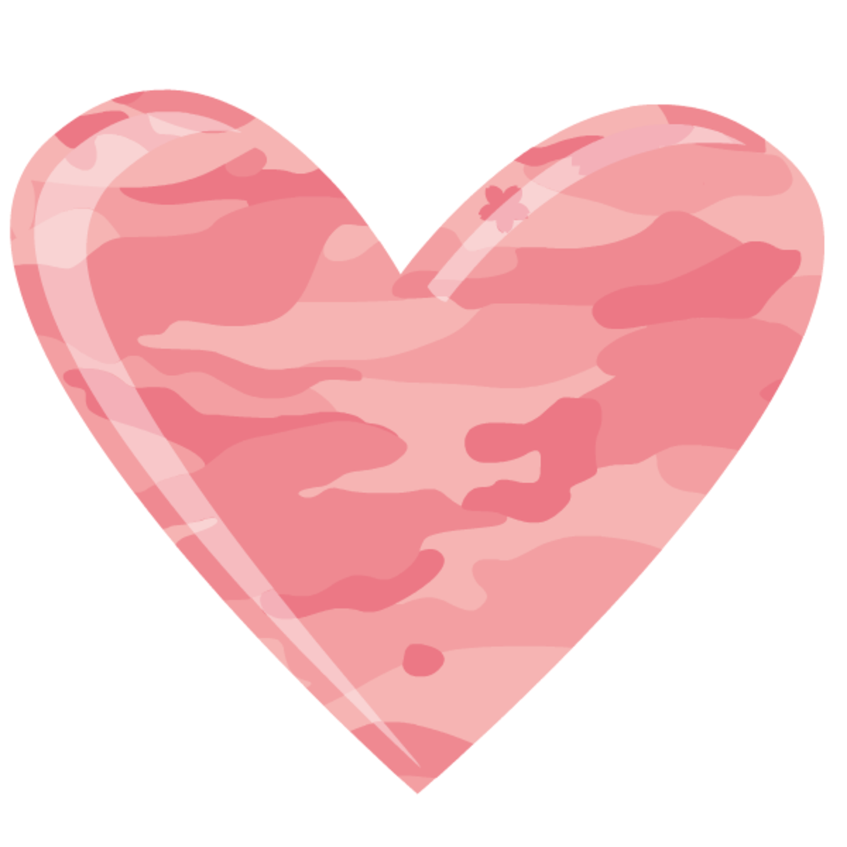Camouflage patterned heart