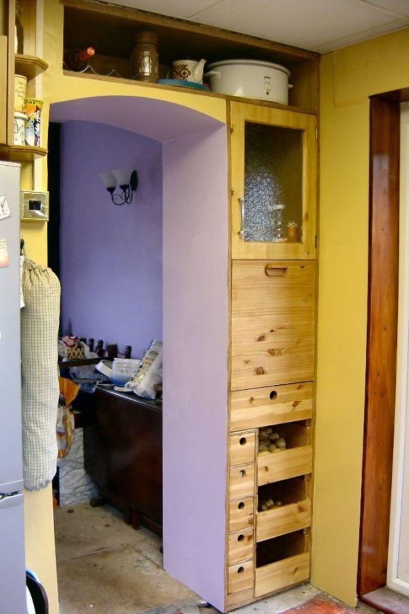 Built in Larder in the kitchen