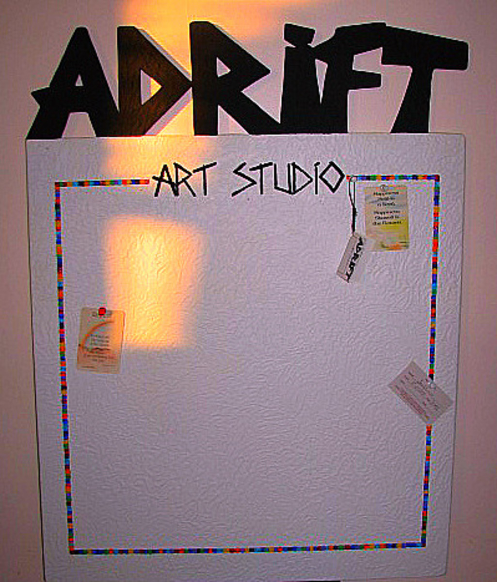 Doing what I do best came down to making bulletin boards, handcrafted jewelry and pyrographics on driftwood