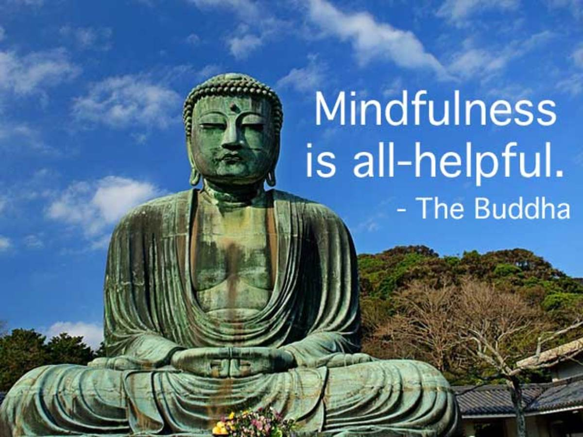 'Mindfulness is all-helpful', said Buddha. Practising mindful awareness in daily life helps to reduce stress and increase happiness in the present moment