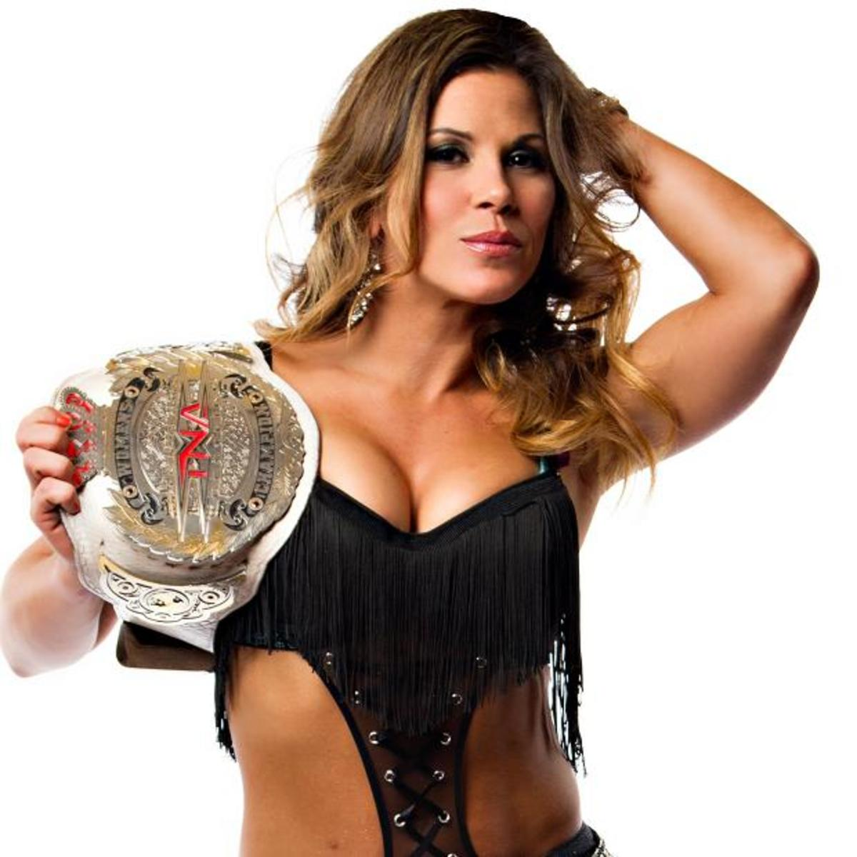 Mickie James with the TNA Knockout Title