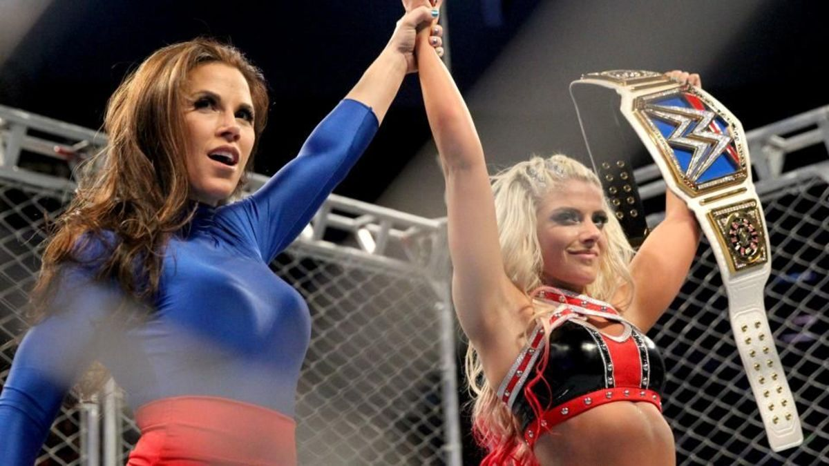 Mickie James and Alexa Bliss - WWE Divas