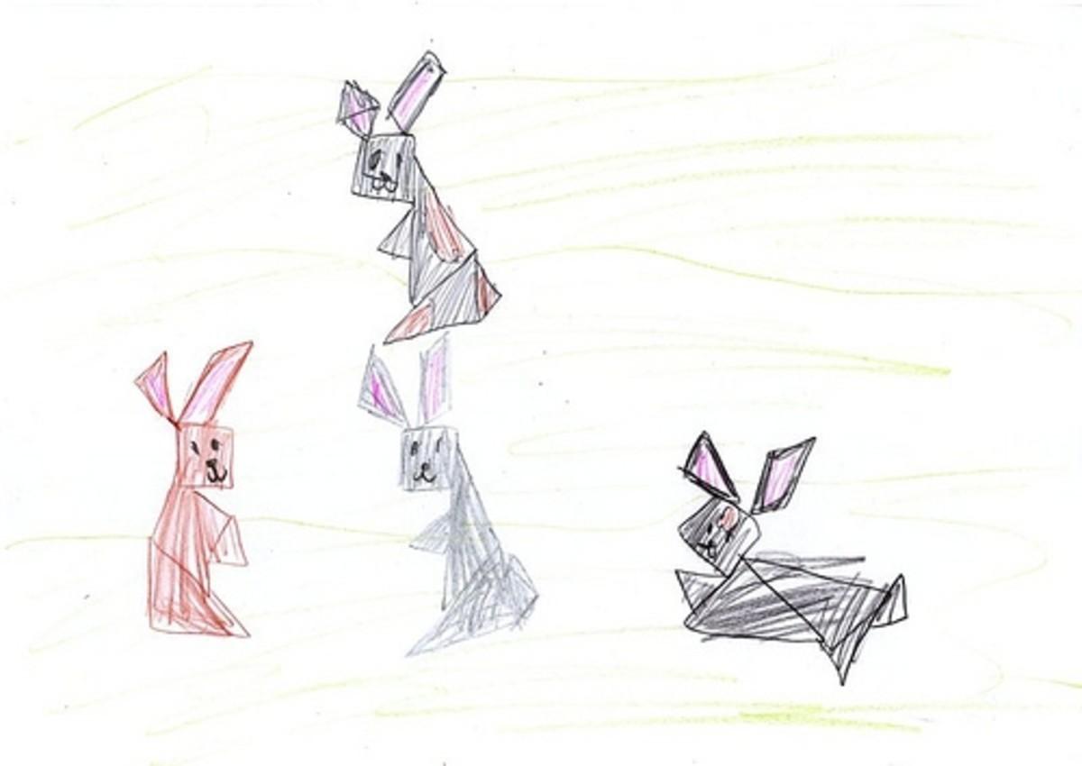 tangram rabbits