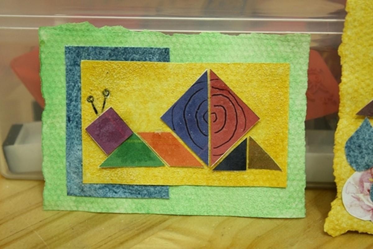 tangram snail ATC