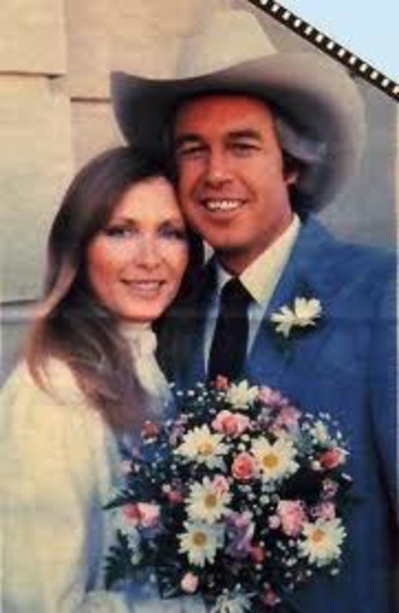 Donna and Ray on their wedding day