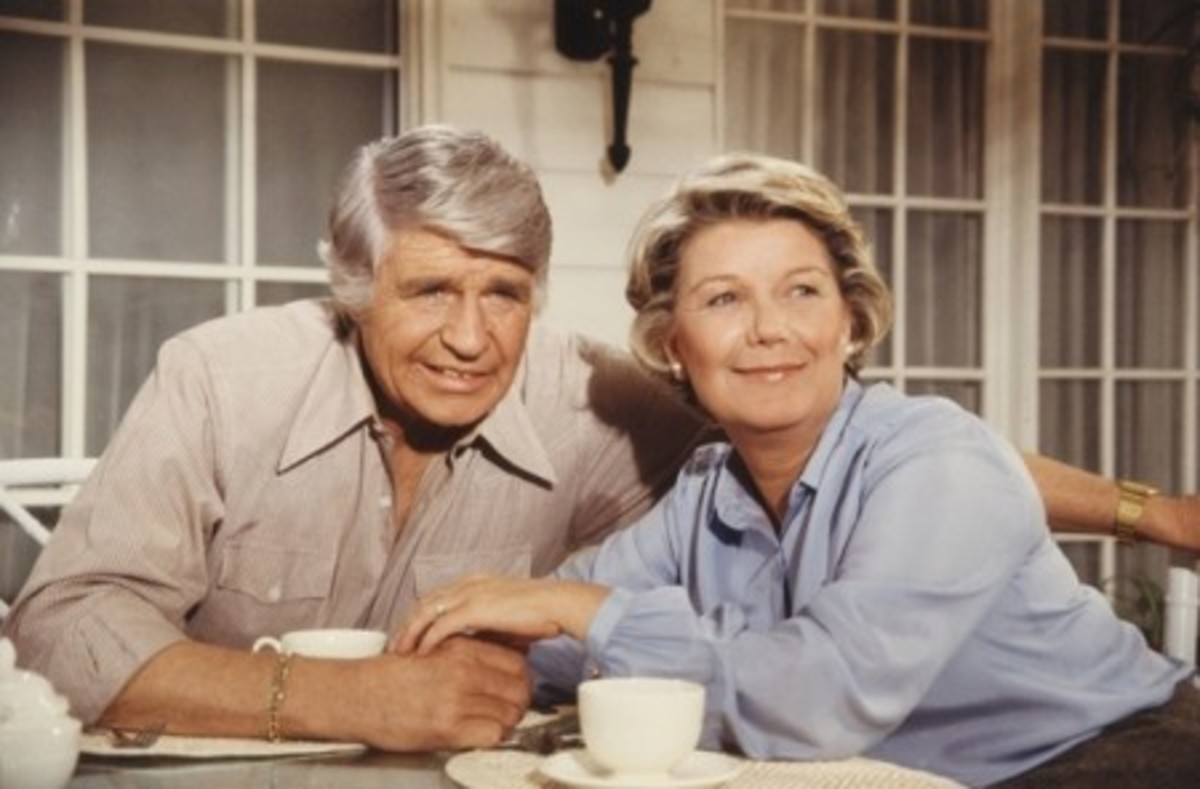 Jock Ewing and Miss Ellie