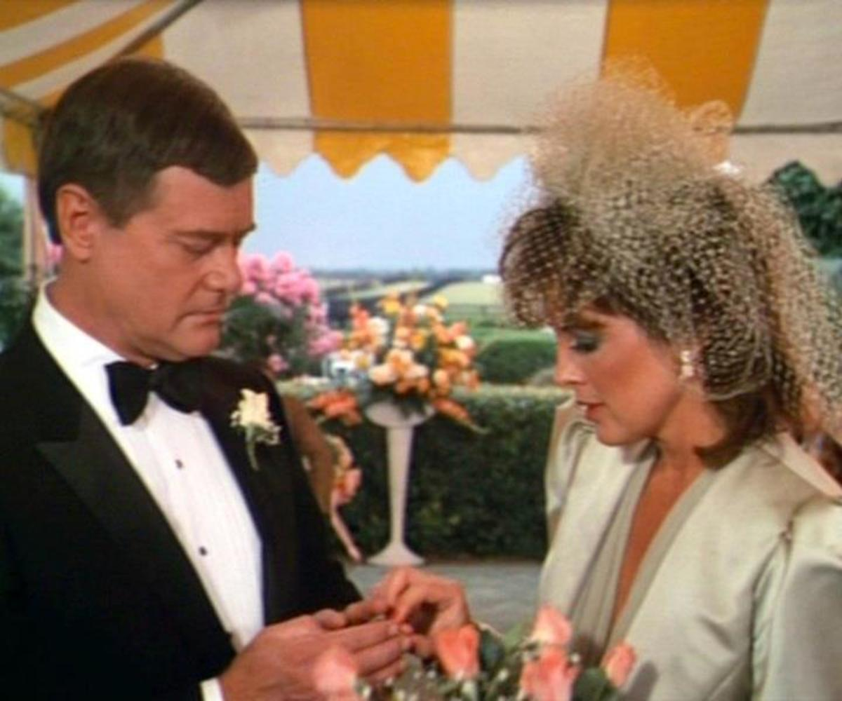 JR and Sue Ellen wedding