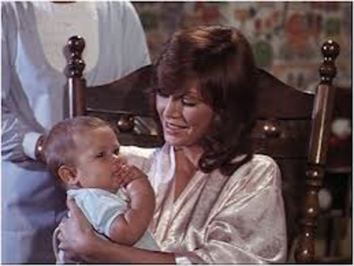 Pamela with Christopher when he first arrives at Southfork