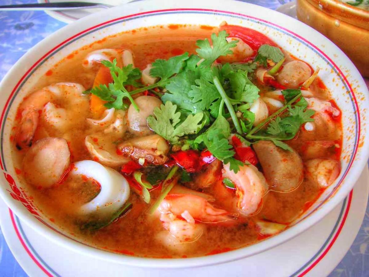 Thai Shrimp Soup - Tum Yum Goong
