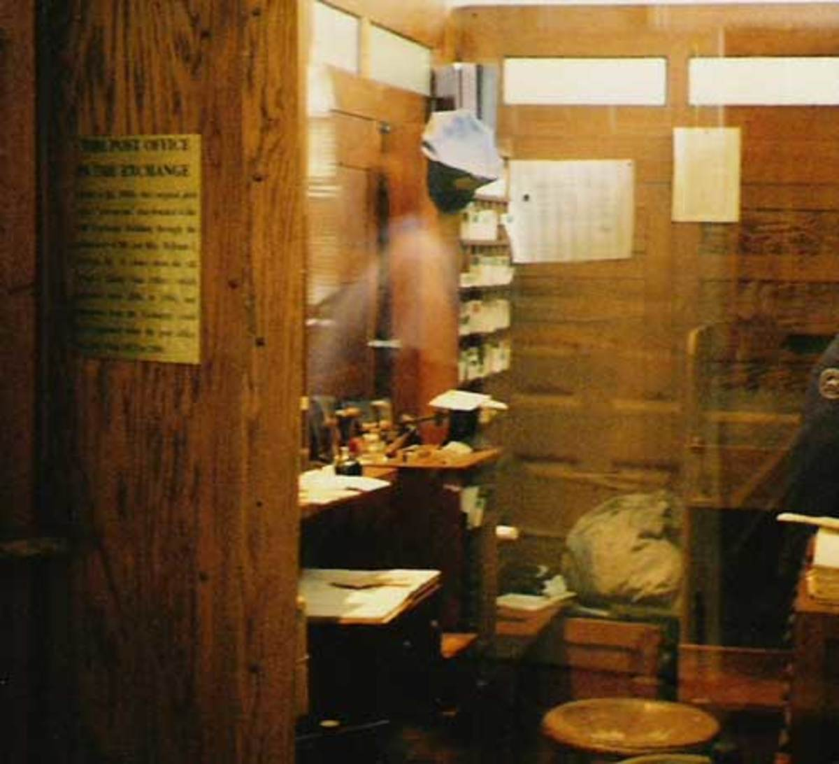 Image of A Man In The Old Post Office Museum