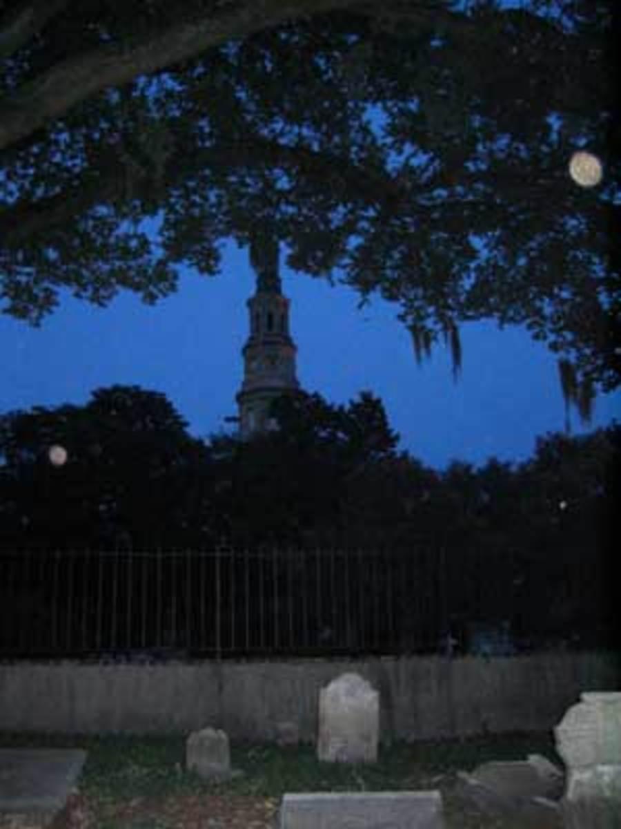 Charleston Graveyard At Night