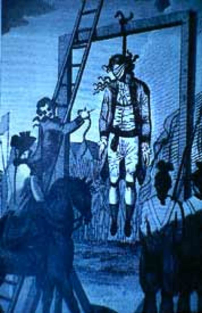 Stede Bonnet, planter-turned-pirate, was hanged by the neck on December 10, 1718 at White Point (now known as White Point Gardens).