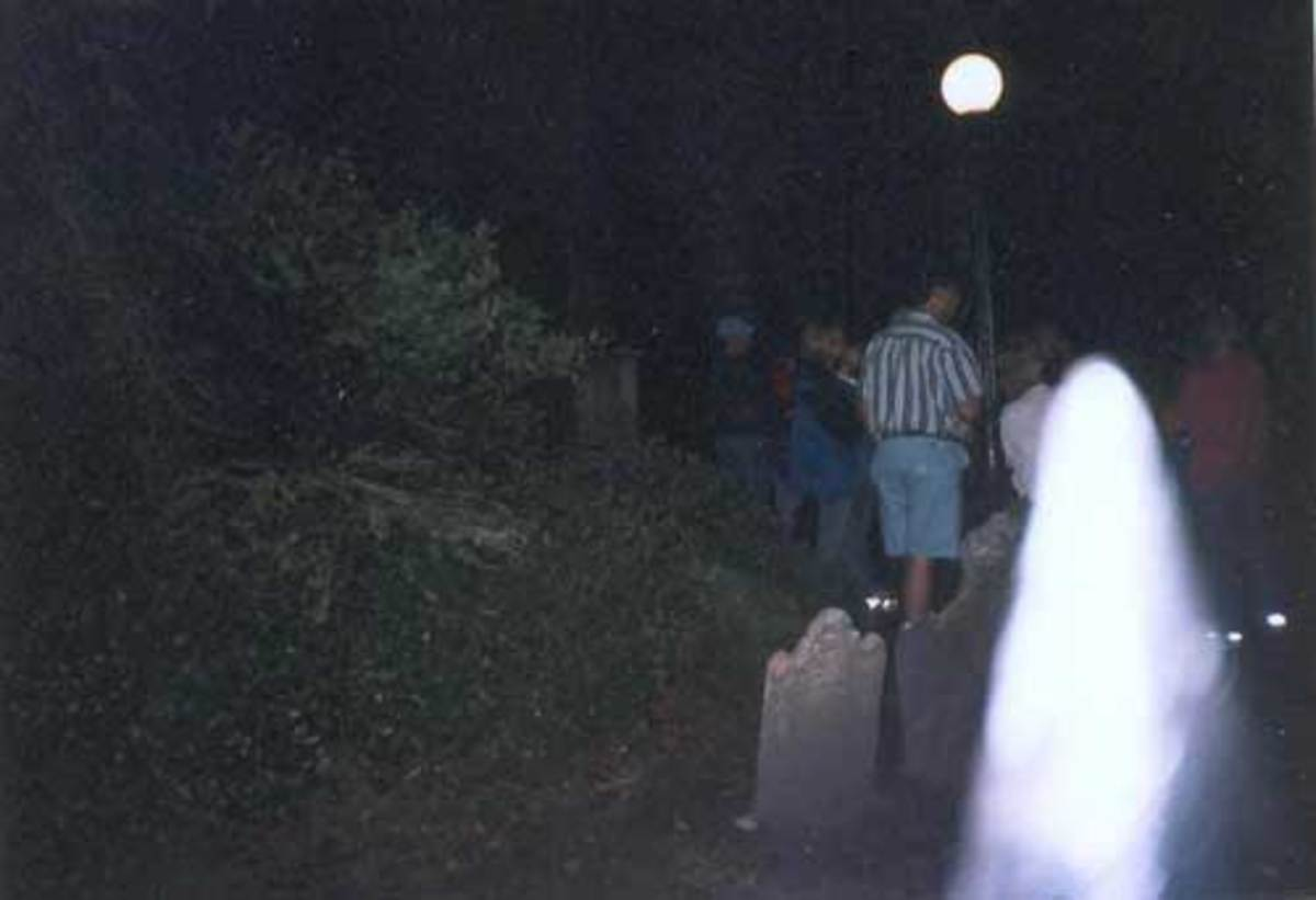 Charleston Graveyard Ghost Image