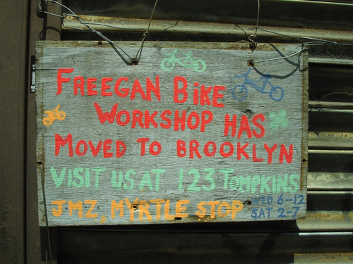 Freegan Bike Repair Sign