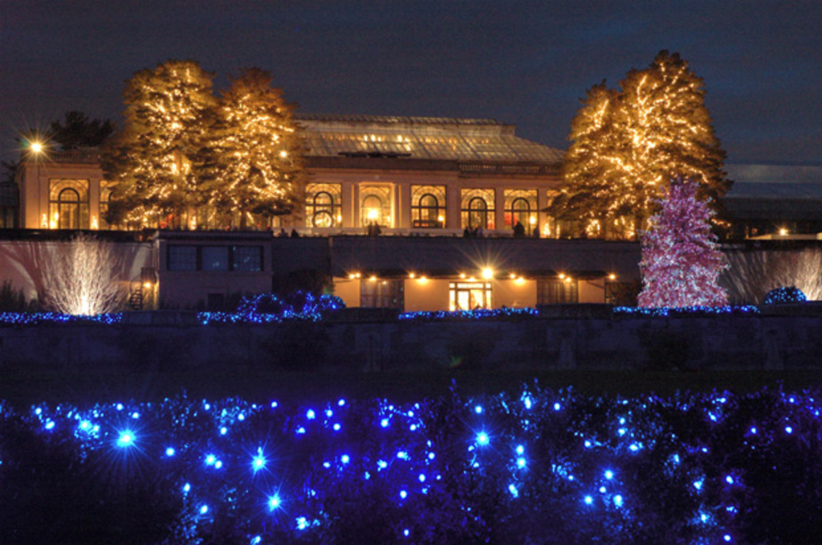 Longwood Gardens Christmas Lights, Pennsylvania