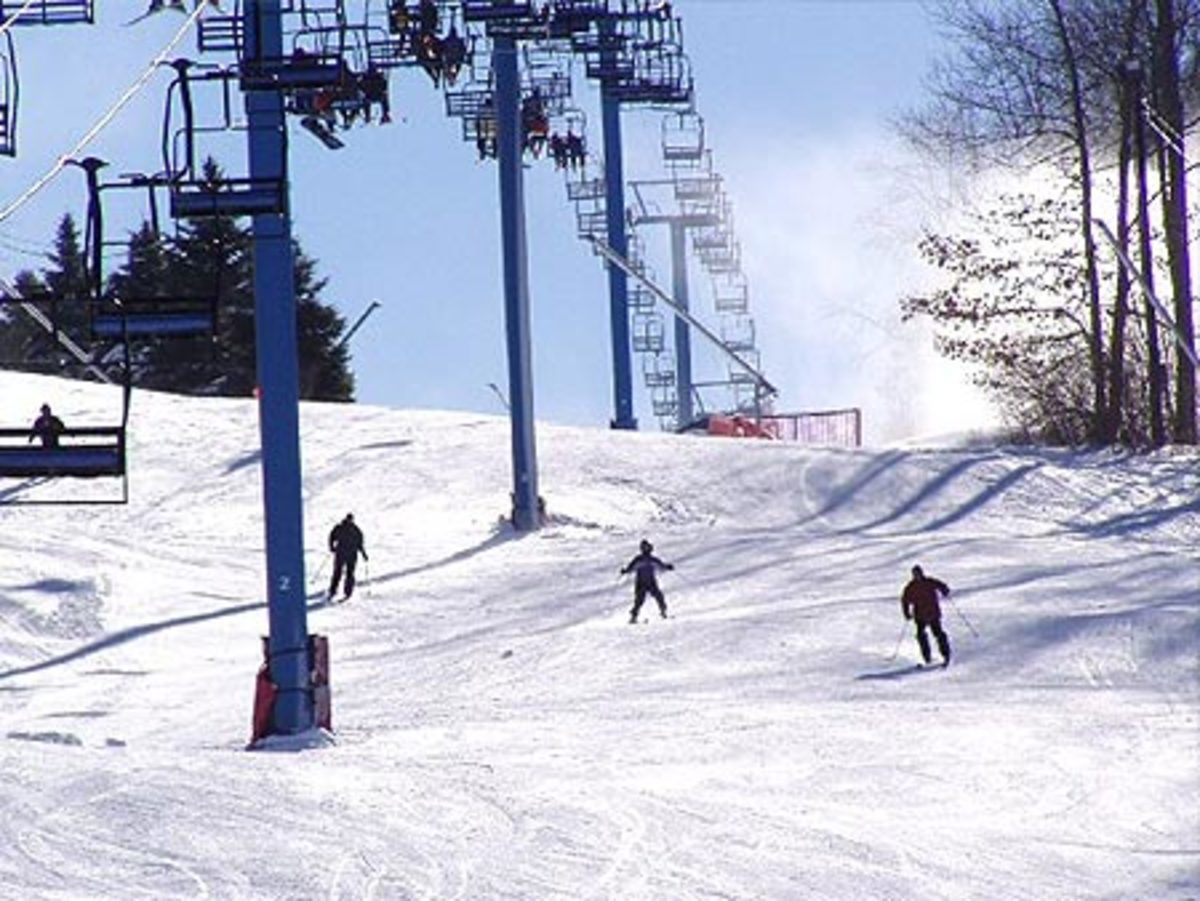 Skiing in Poconos, PA