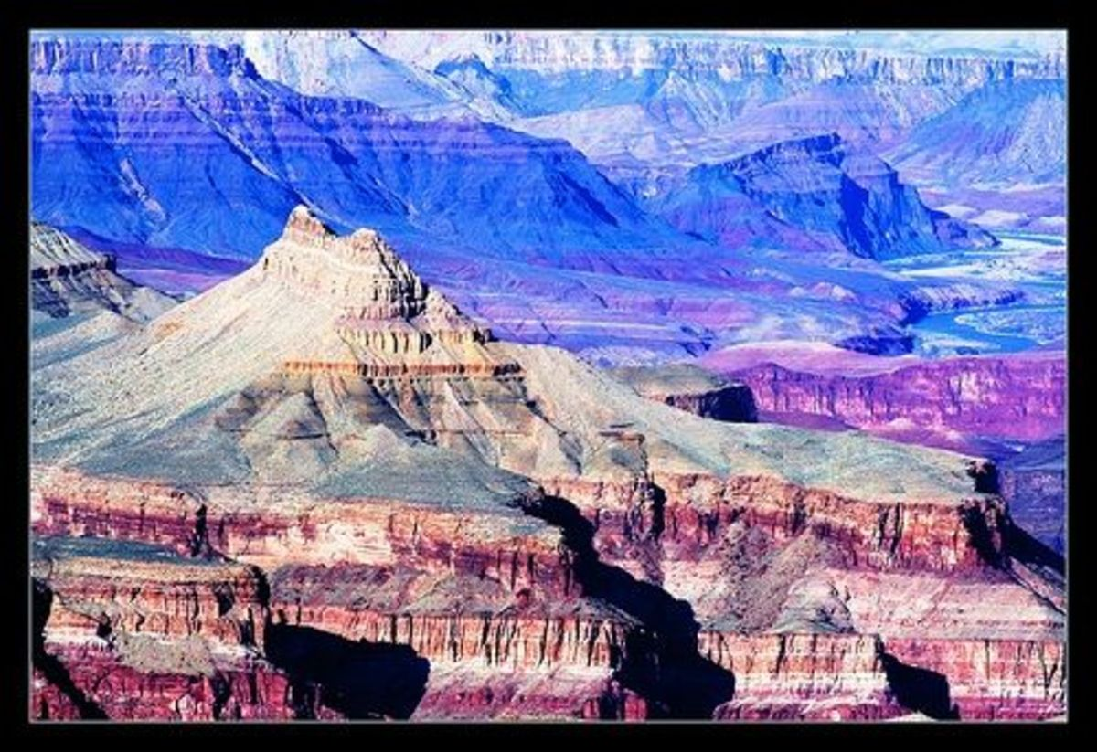 Chuar Butte and Temple Butte in the Grand Canyon