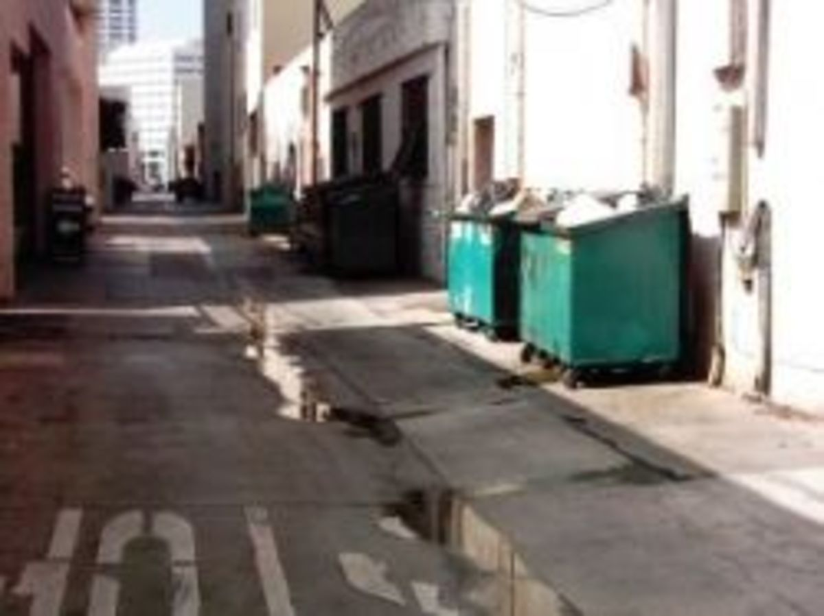Dumpsters side-by-side present a dangerous place for hurting monsters to hide