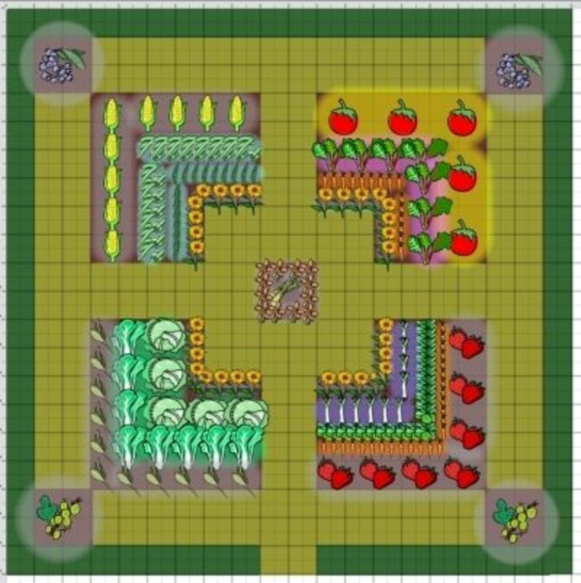 Gallery For Vegetable Garden Layout 20 X 20