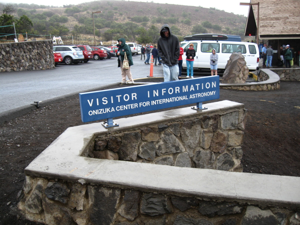 Visitor Center part way up Mauna Kea Summit.