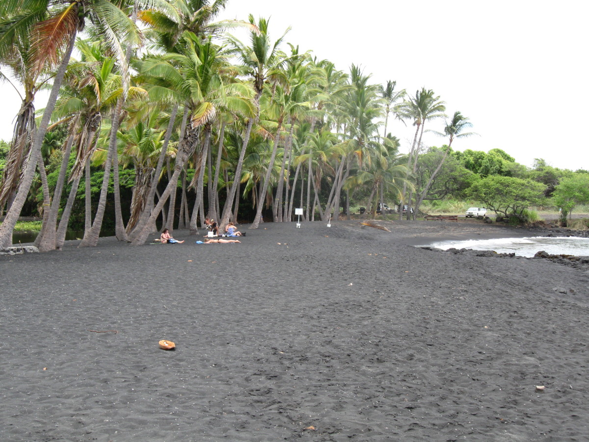 Black Sand Beach at Panalu'u