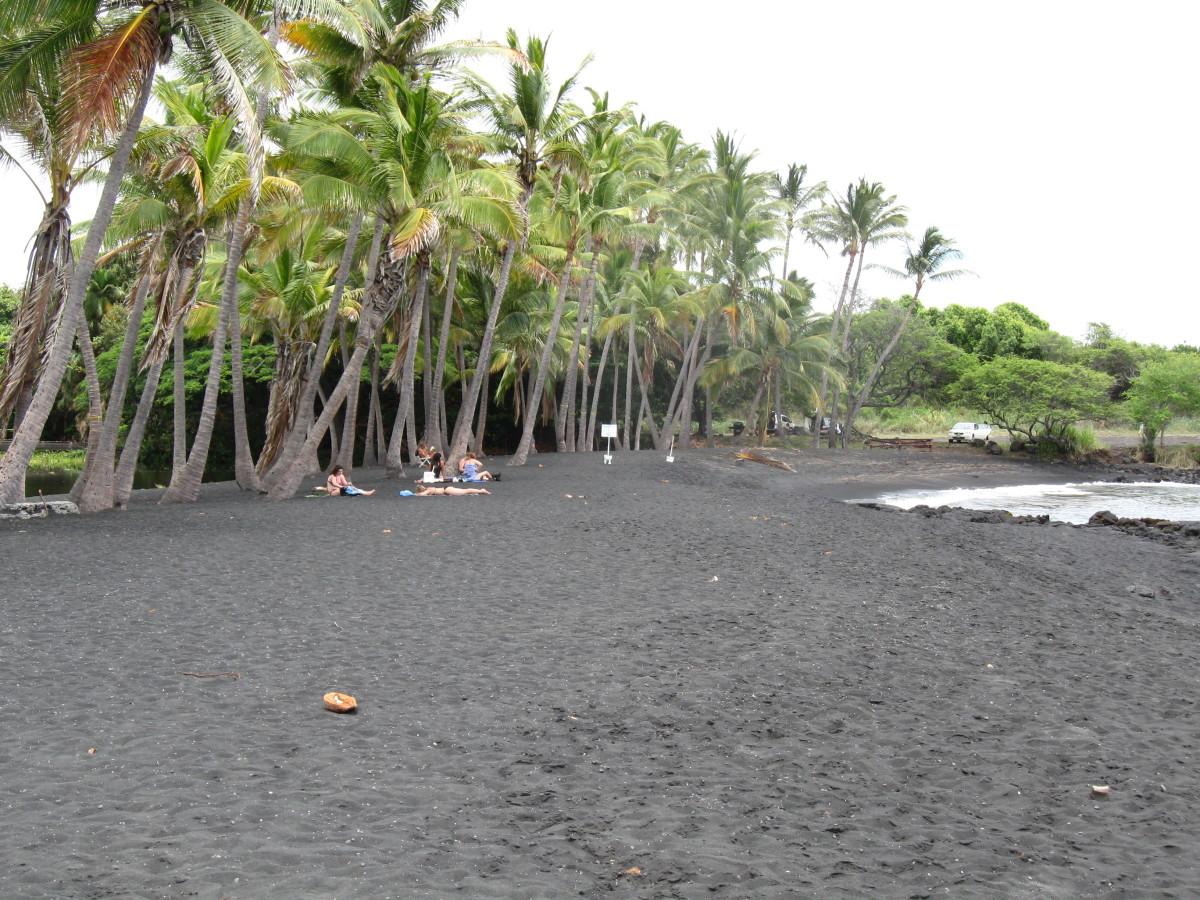 Black Sand Beach at Panalu'u