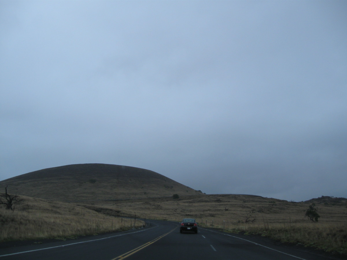 Part way up Mauna Kea summit