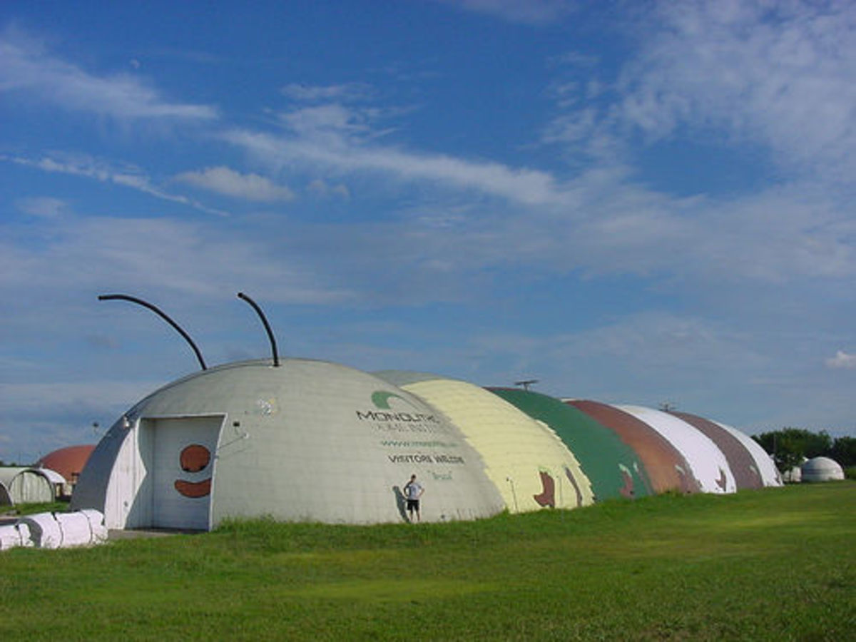 Bruco, the Monolithic Dome Caterpillar in Italy, Tx
