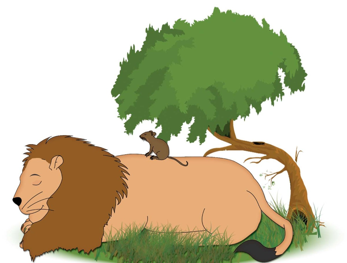 Neetu Mouse plays on the lion