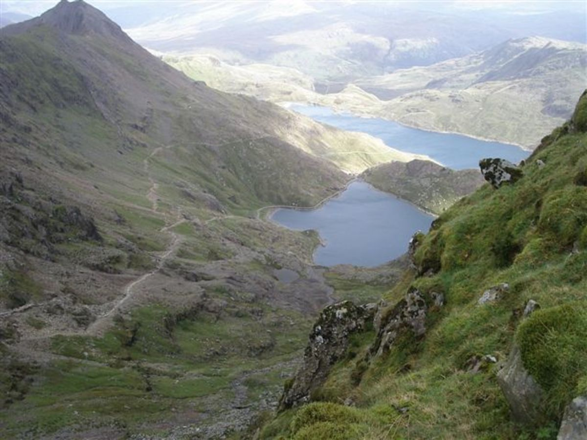From the top of Mount Snowdon