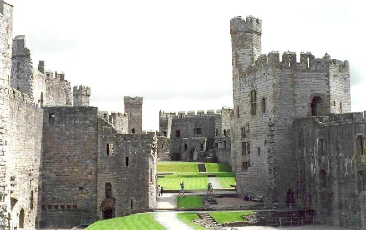 Inside Caenarfon Castle