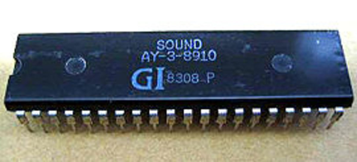 An AY-3-8910 sound chip, yesterday