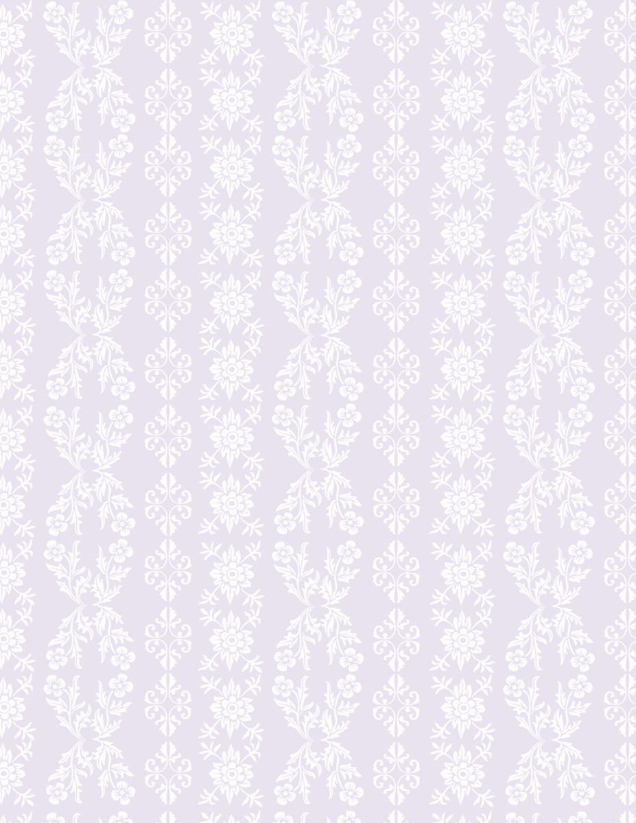 Light purple and white floral paisley scrapbook paper