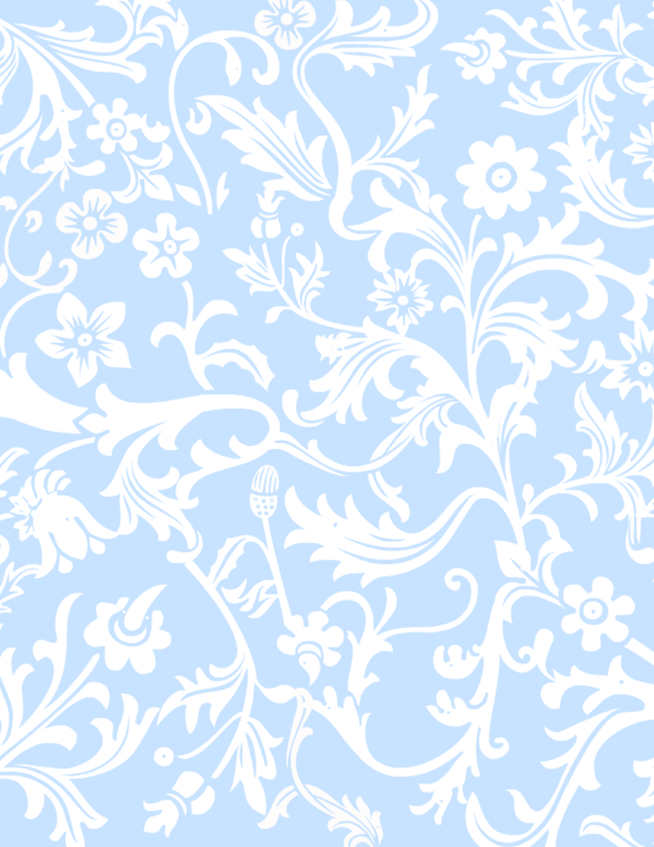 Light blue and white floral paisley free scrapbook paper