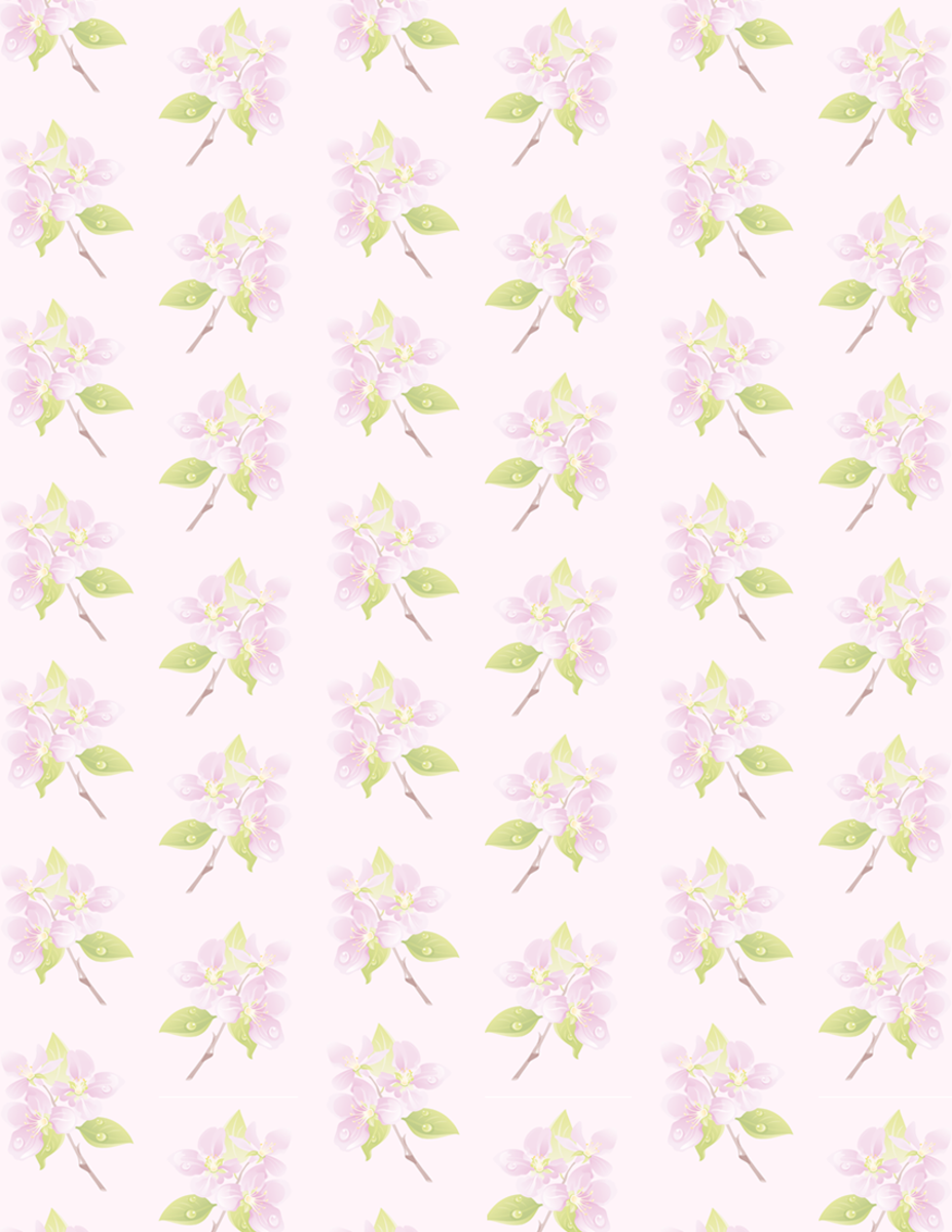Small delicate purple flower free scrapbook paper on lavender background