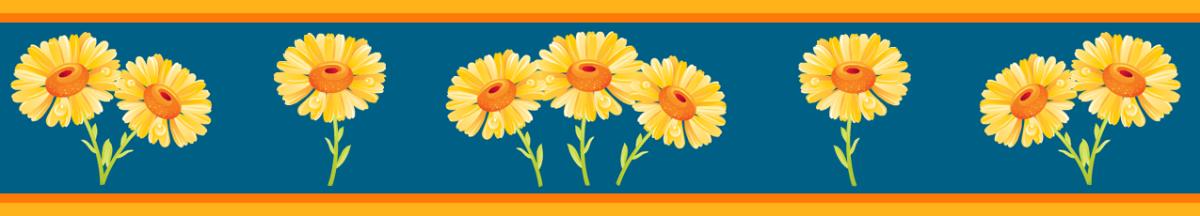 Cheerful sunflower scrapbook border