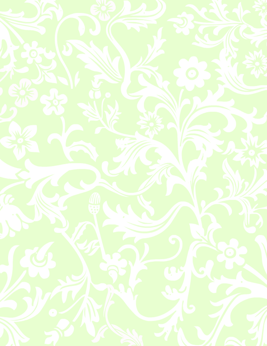 Light green and white floral paisley free scrapbook paper